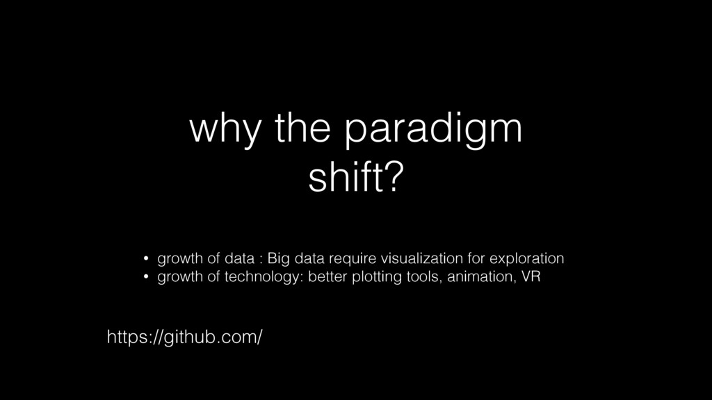 why the paradigm shift? • growth of data : Big ...