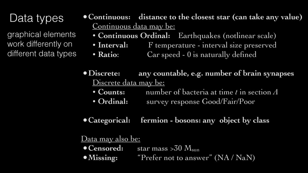 •Continuous: distance to the closest star (can ...