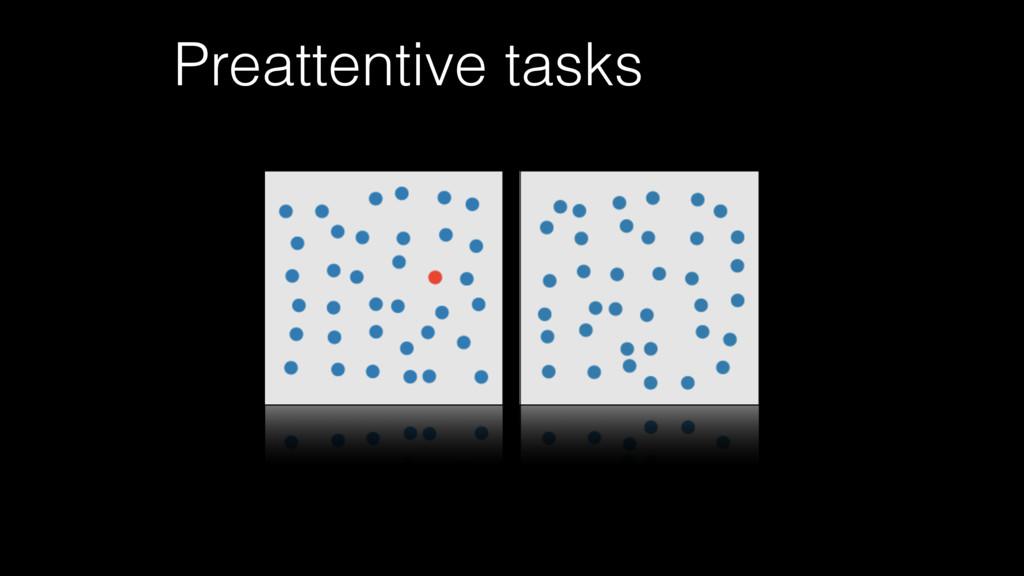 Preattentive tasks