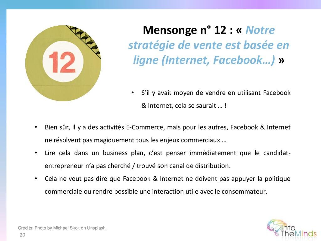 Mensonge n° 12 : « Notre stratégie de vente est...
