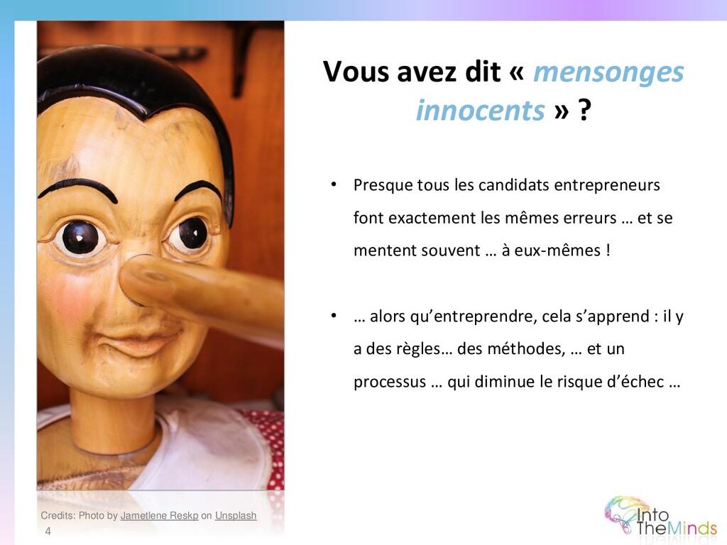 Vous avez dit « mensonges innocents » ? 4 • Pre...