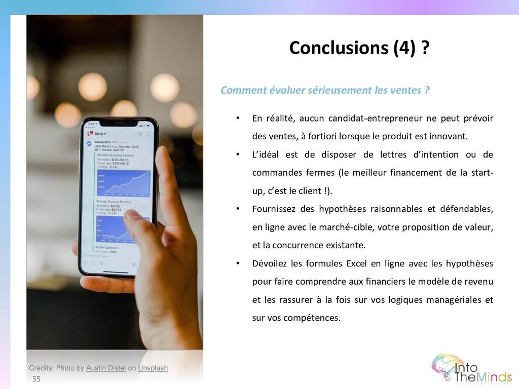 Conclusions (4) ? 35 Comment évaluer sérieuseme...
