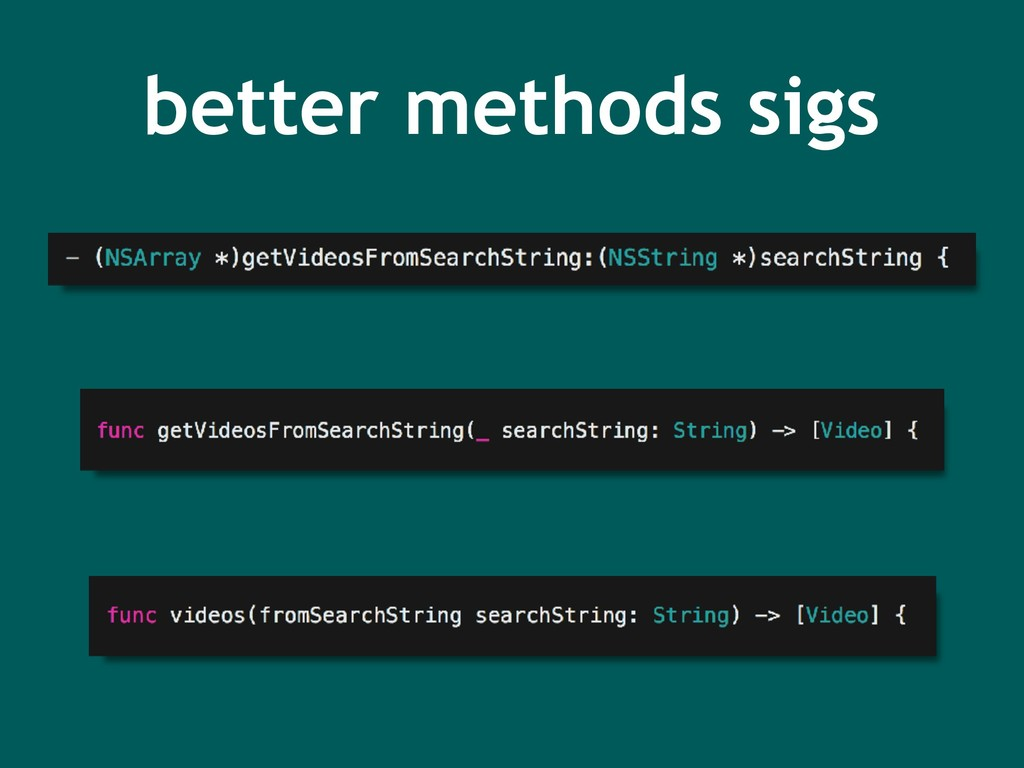 better methods sigs