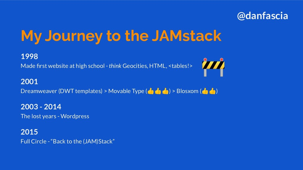 1998 Made first website at high school - think G...