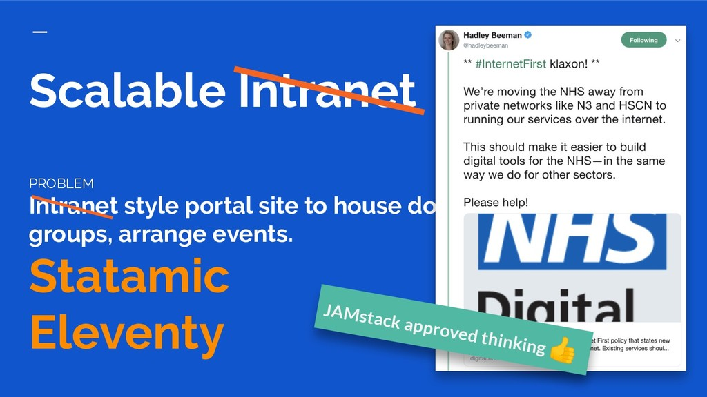 Scalable Intranet PROBLEM Intranet style portal...