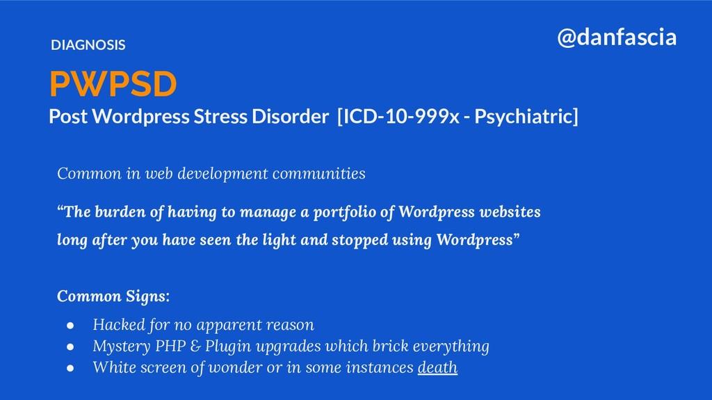 Post Wordpress Stress Disorder [ICD-10-999x - P...