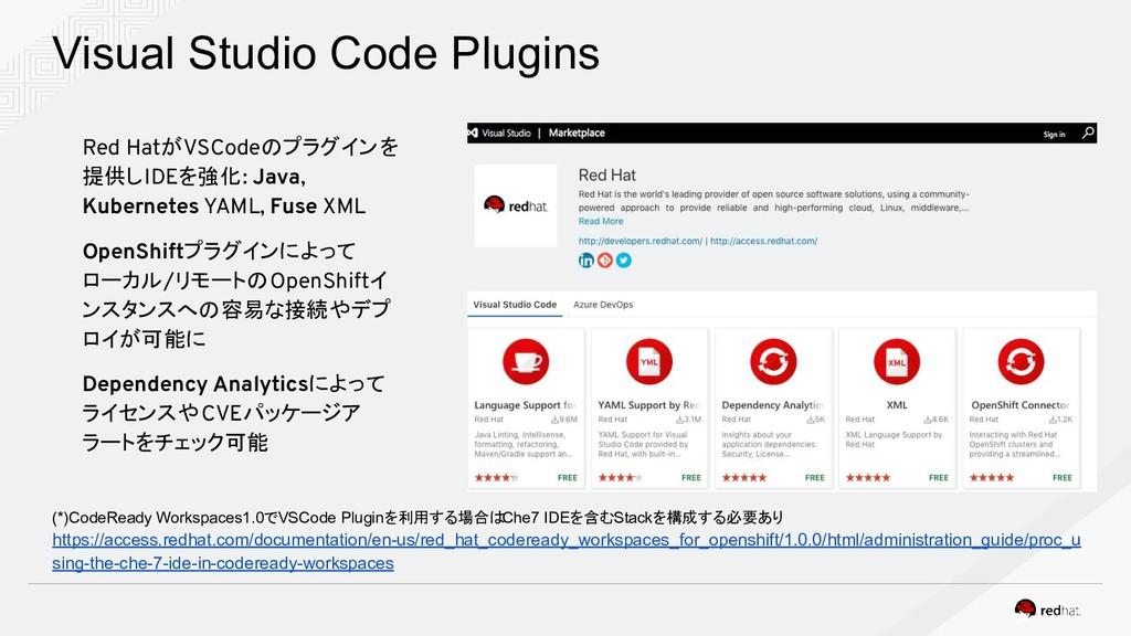 Visual Studio Code Plugins Red HatがVSCodeのプラグイン...