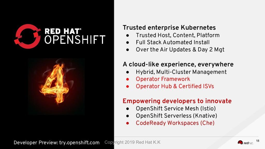 Trusted enterprise Kubernetes ● Trusted Host, C...