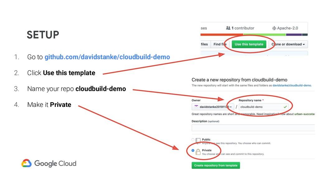 SETUP 1. Go to github.com/davidstanke/cloudbuil...