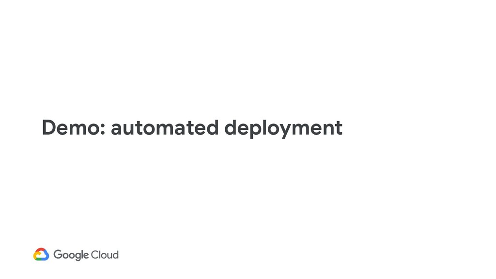 Demo: automated deployment