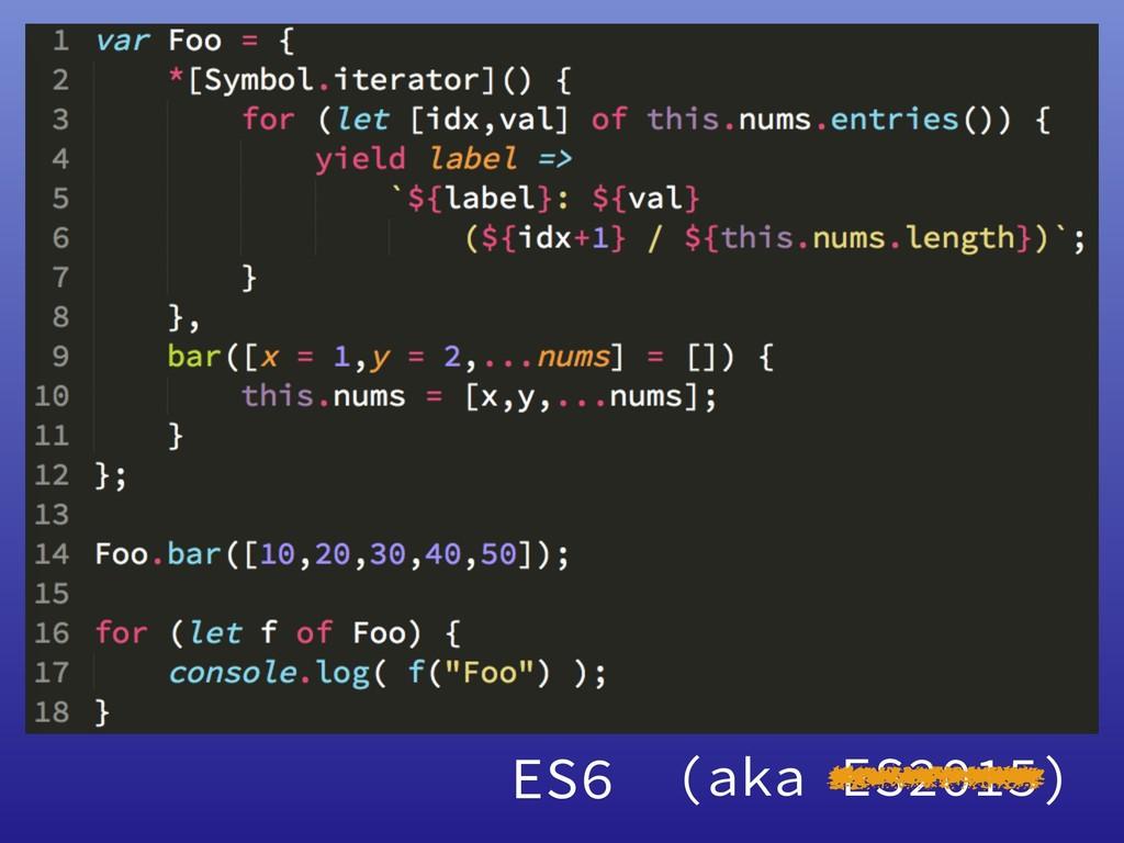 ES6 (aka ES2015)