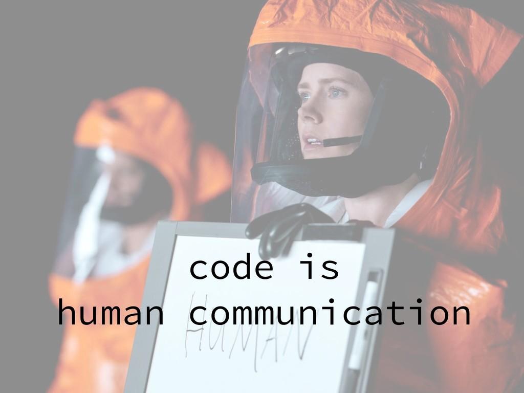 code is human communication