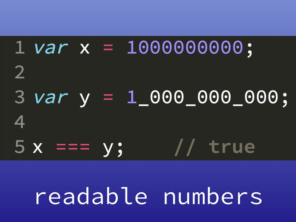 readable numbers