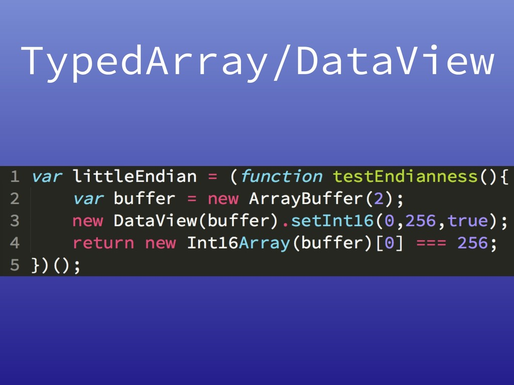 TypedArray/DataView