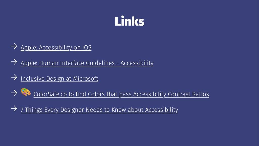 Links → Apple: Accessibility on iOS → Apple: Hu...