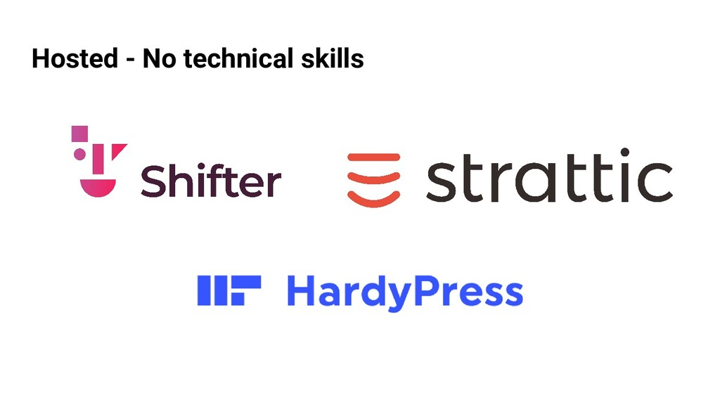 Hosted - No technical skills