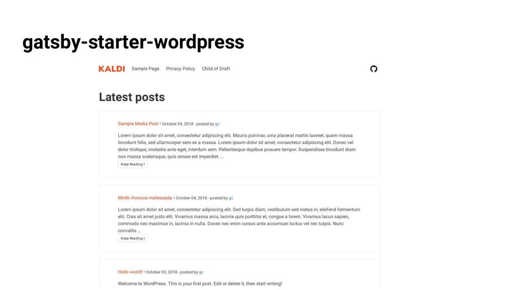 gatsby-starter-wordpress