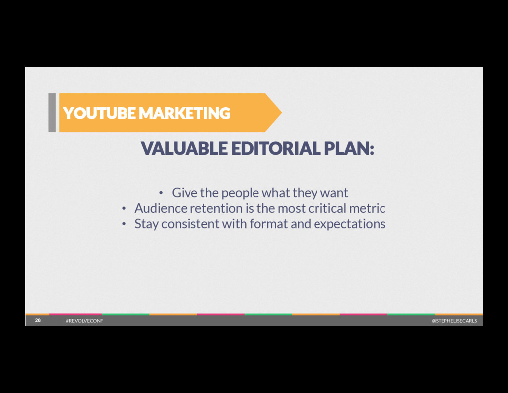 28 YOUTUBE MARKETING 28 VALUABLE EDITORIAL PLAN...
