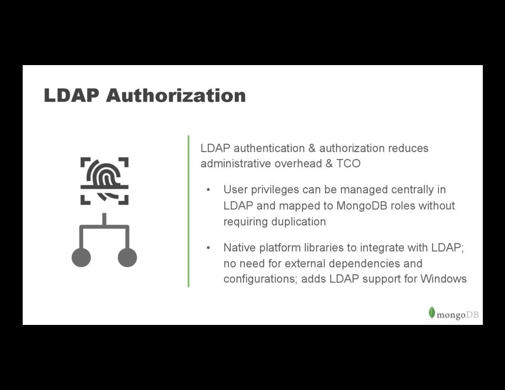 LDAP Authorization LDAP authentication & author...