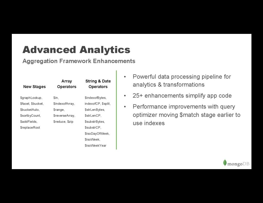 Advanced Analytics • Powerful data processing ...