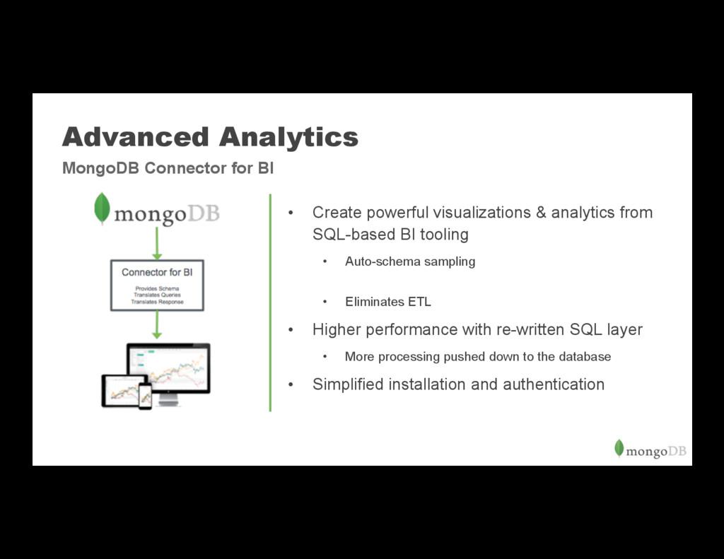 Advanced Analytics • Create powerful visualiza...