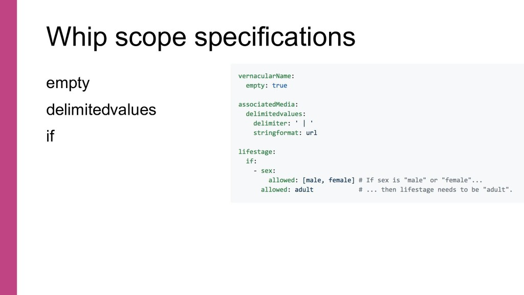 Whip scope specifications empty delimitedvalues...