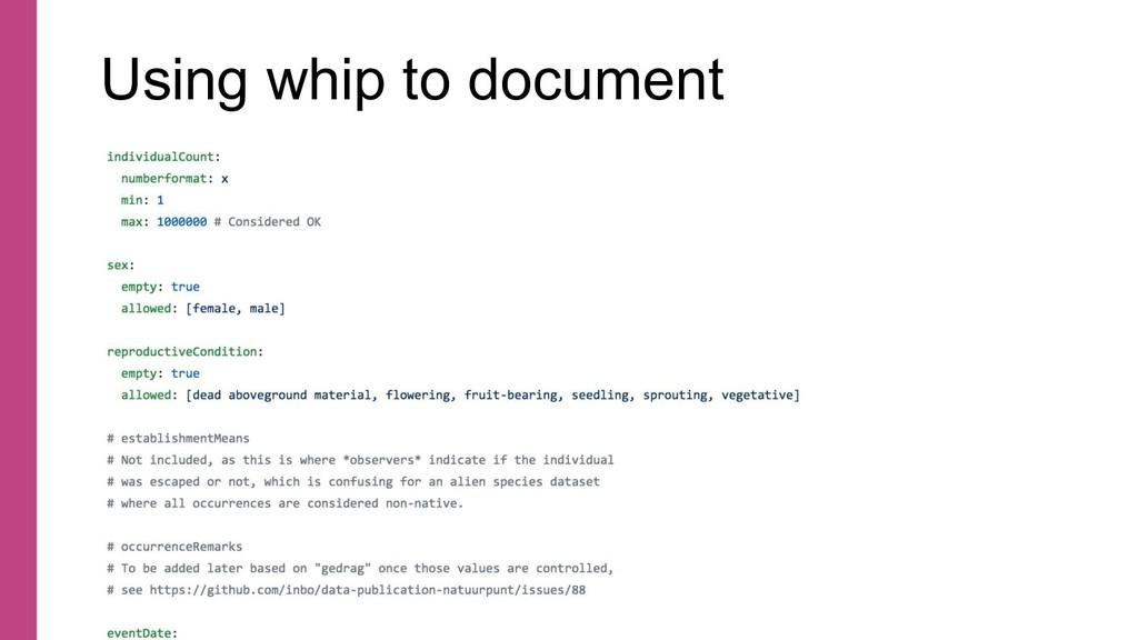 Using whip to document