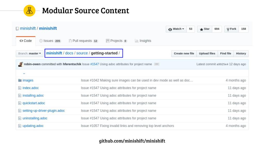 Modular Source Content github.com/minishift/min...