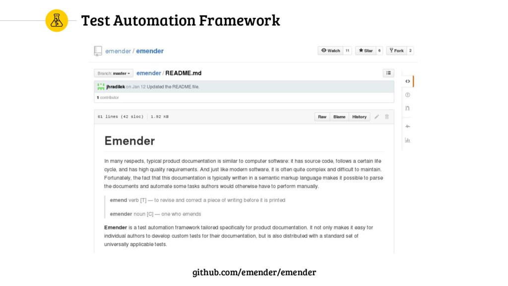 Test Automation Framework github.com/emender/em...