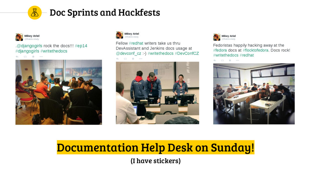 Doc Sprints and Hackfests Documentation Help De...