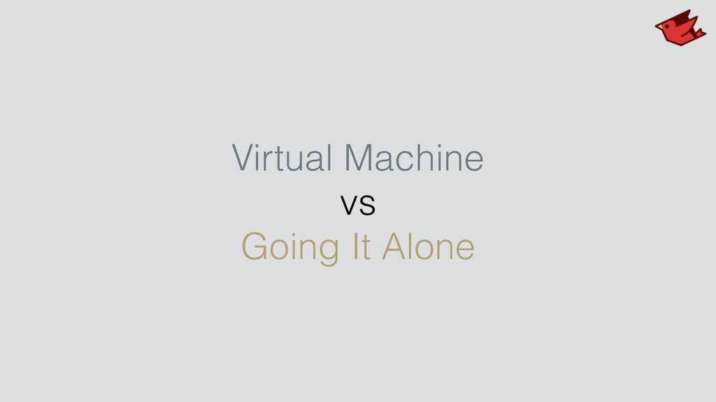 Virtual Machine vs Going It Alone