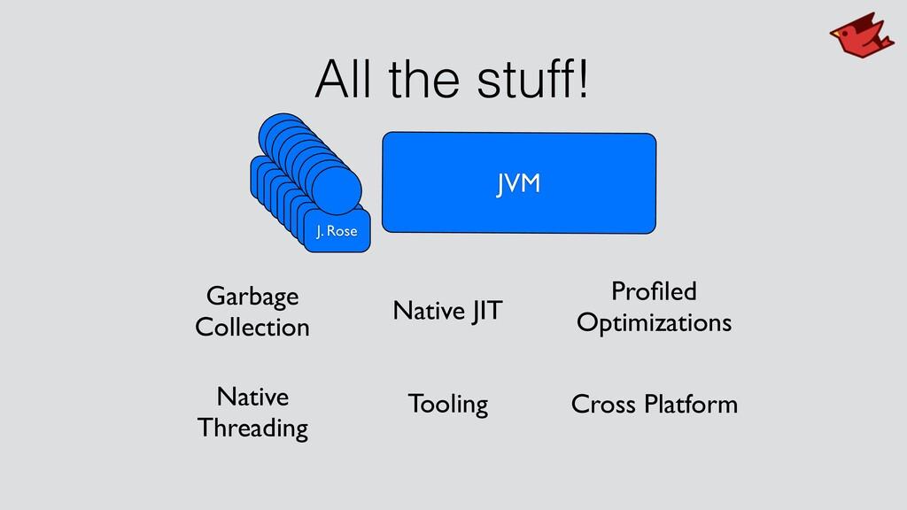All the stuff! JVM J. Rose J. Rose J. Rose J. R...