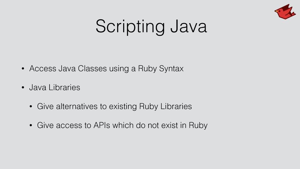Scripting Java • Access Java Classes using a Ru...