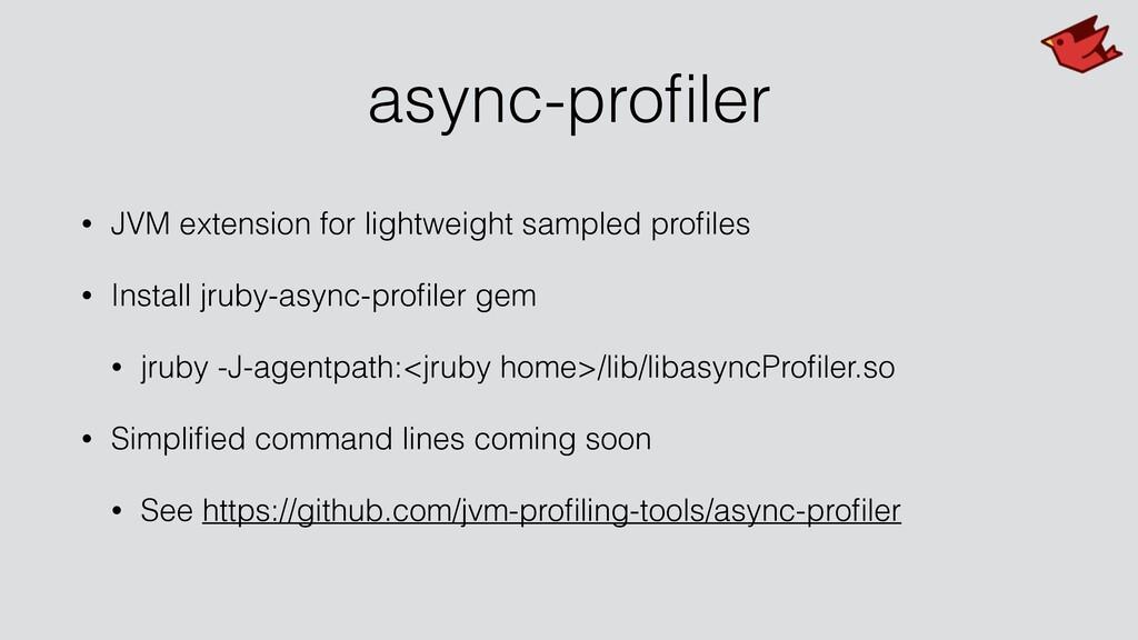 async-profiler • JVM extension for lightweight s...