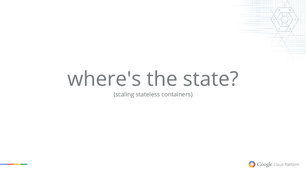 where's the state? (scaling stateless container...