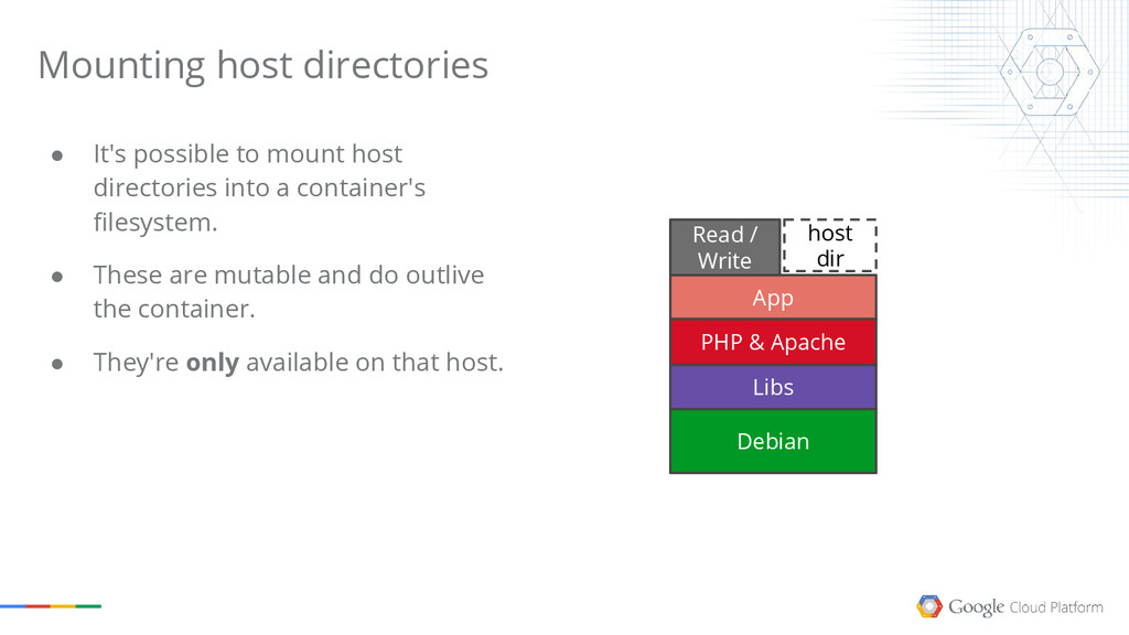 ● It's possible to mount host directories into ...