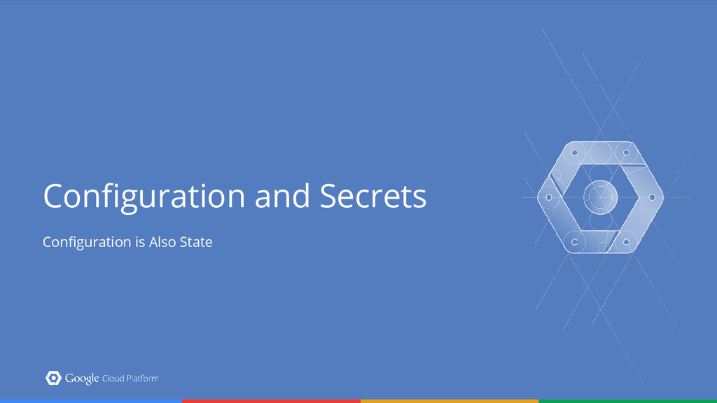 Configuration and Secrets Configuration is Also...
