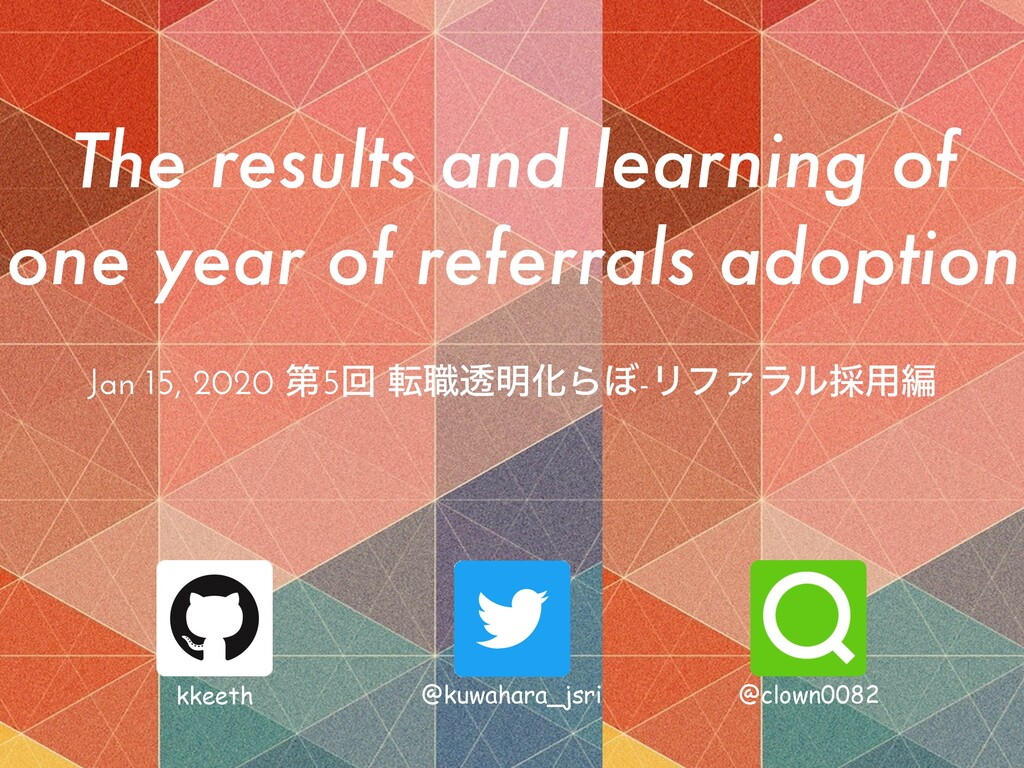 The results and learning of one year of referra...