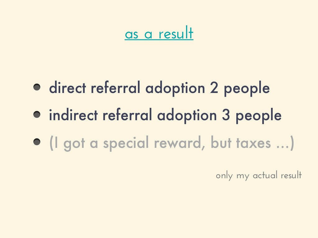 direct referral adoption 2 people indirect refe...