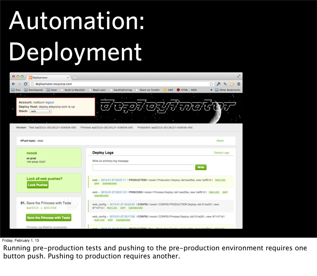 Automation: Deployment Friday, February 1, 13 R...