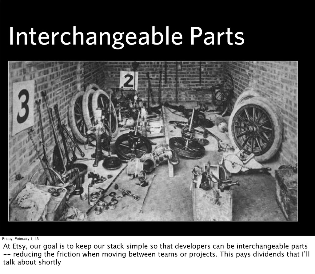 Interchangeable Parts Friday, February 1, 13 At...