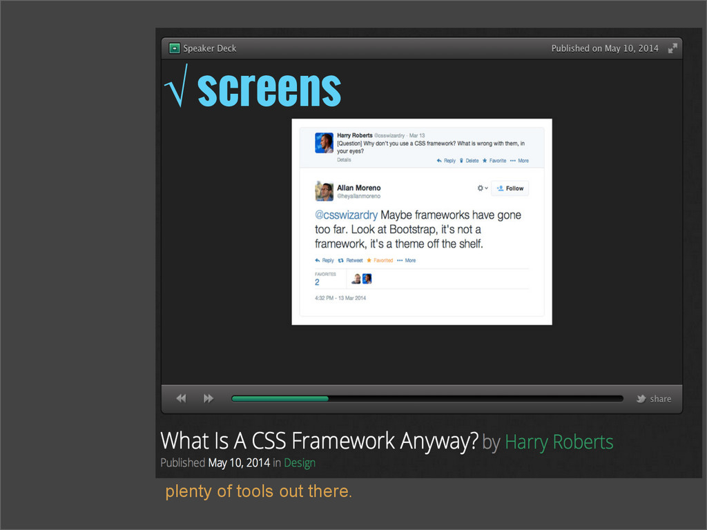 √ screens plenty of tools out there.