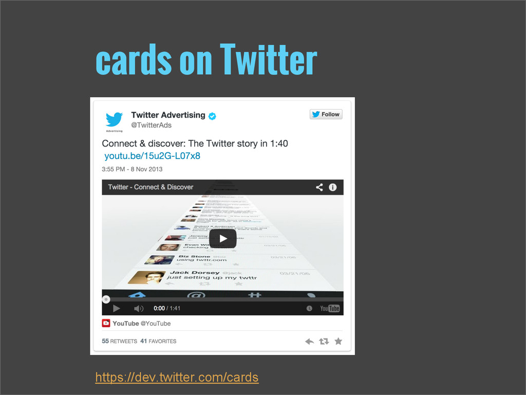 cards on Twitter https://dev.twitter.com/cards