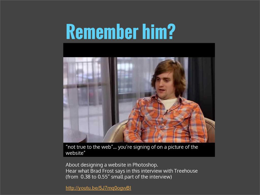 """Remember him? http://youtu.be/rR8XkWek7E4 """"not ..."""