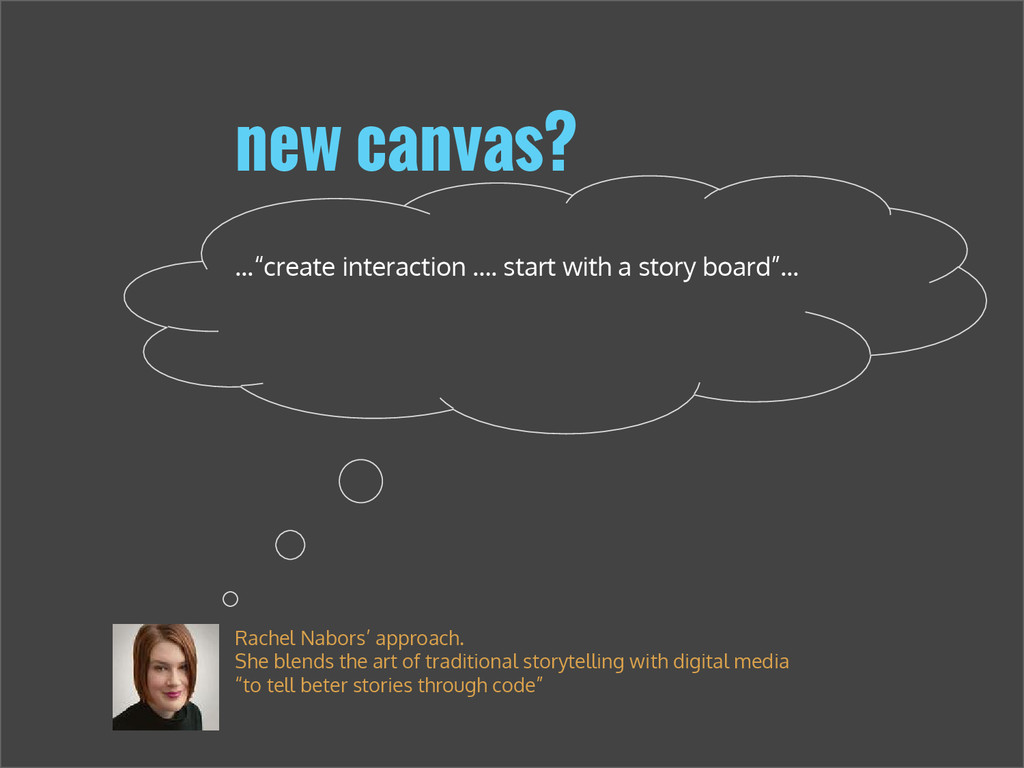 """...""""create interaction …. start with a story bo..."""