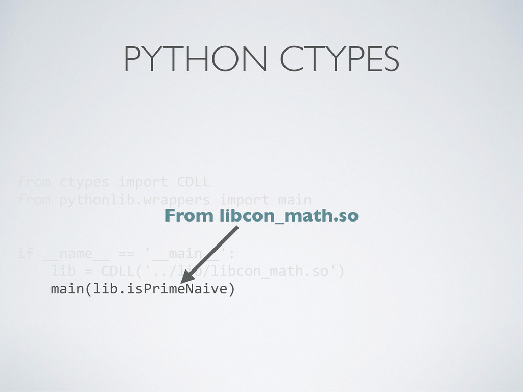 PYTHON CTYPES from ctypes import CDLL...