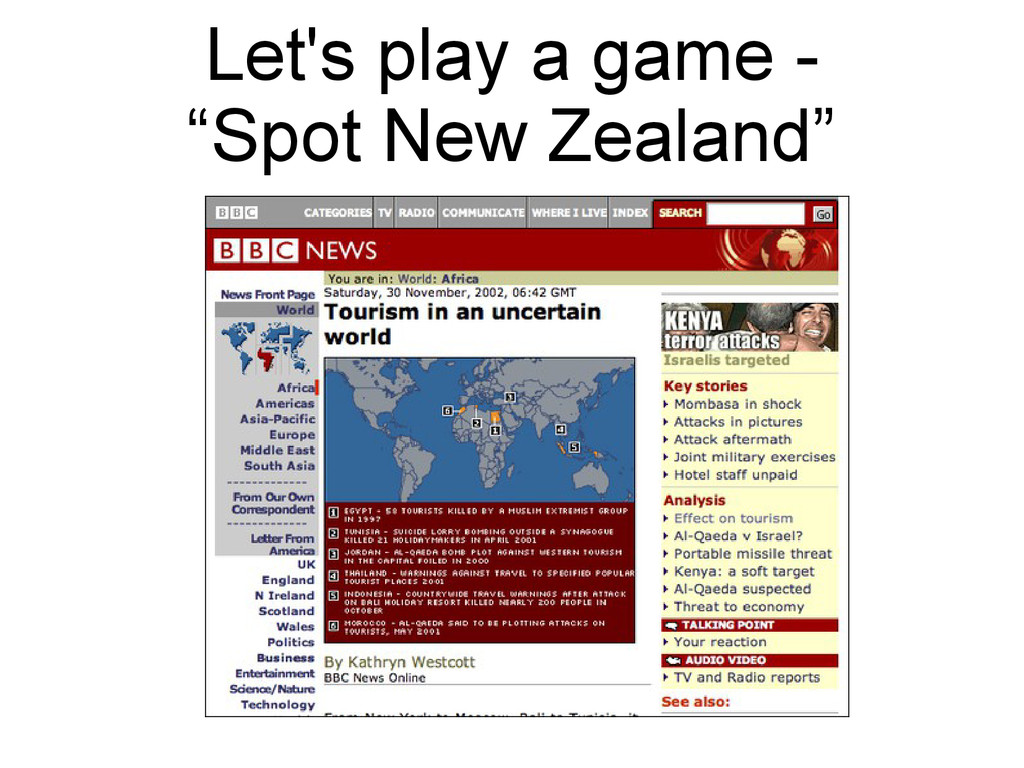 """Let's play a game - """"Spot New Zealand"""""""