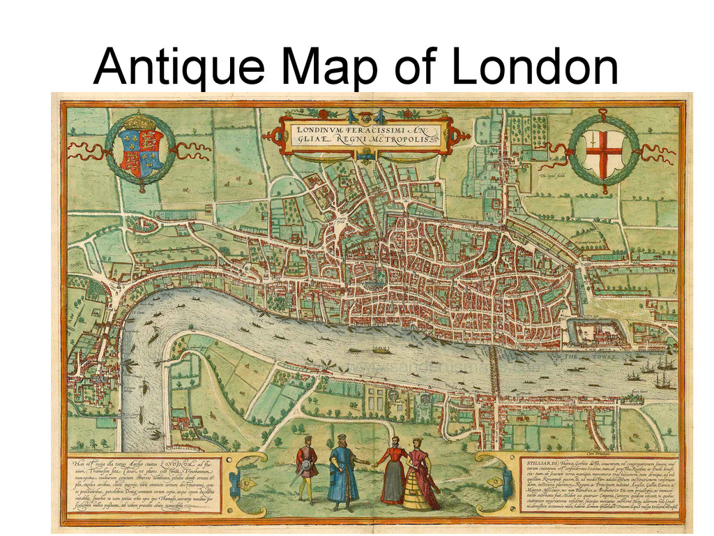 Antique Map of London