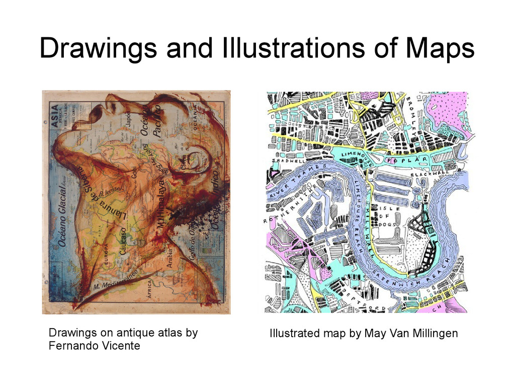 Drawings and Illustrations of Maps Drawings on ...