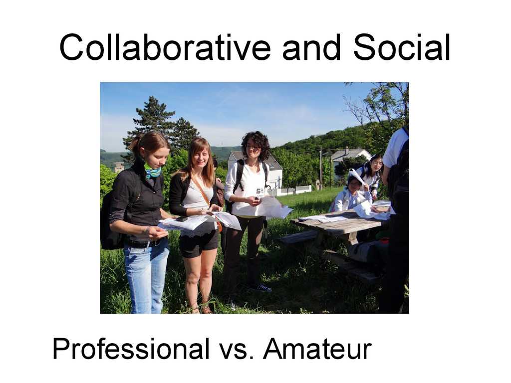 Collaborative and Social Professional vs. Amate...